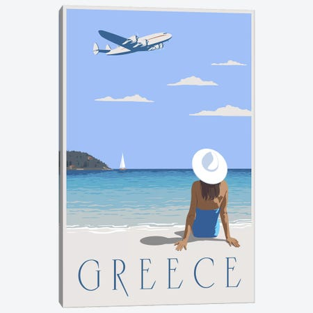Greece Canvas Print #15561} by Steve Thomas Art Print