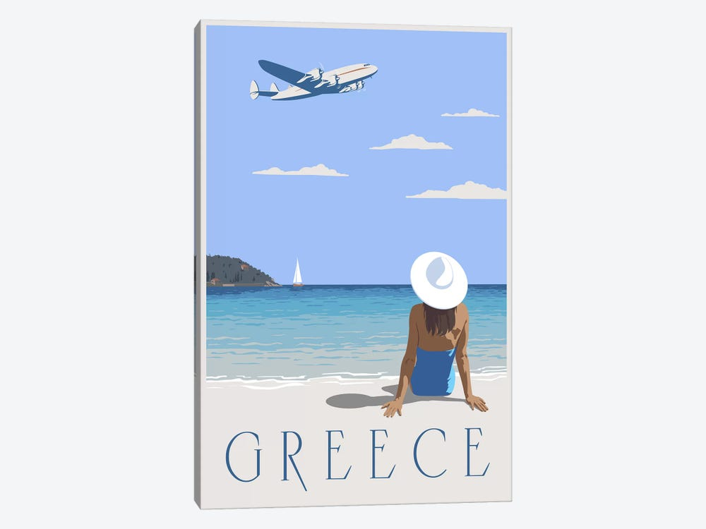 Greece by Steve Thomas 1-piece Canvas Art Print