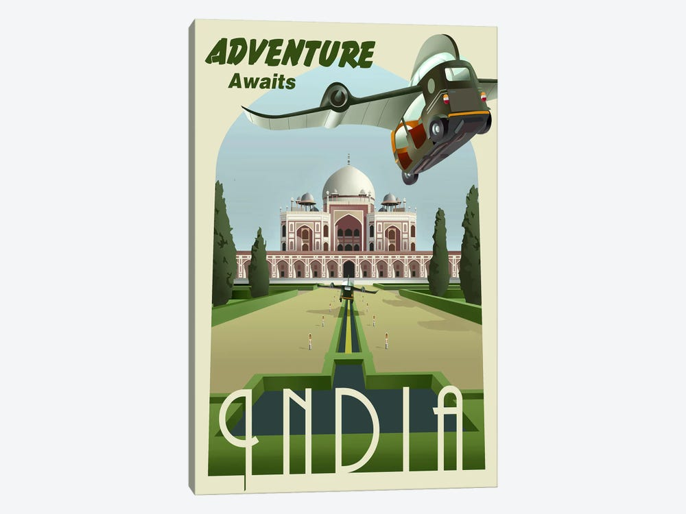 India by Steve Thomas 1-piece Canvas Art