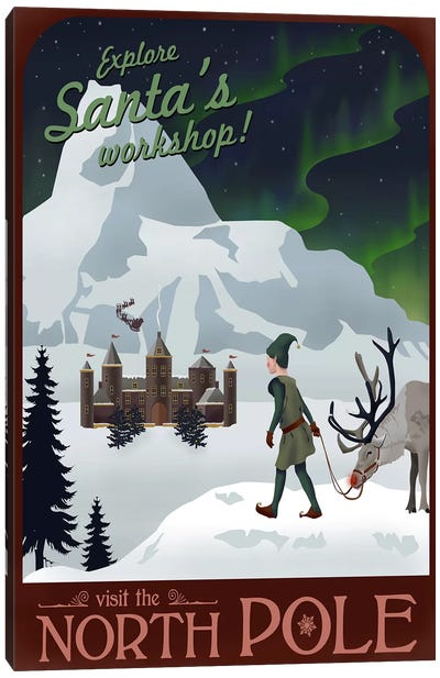 North Pole Christmas Canvas Art Print