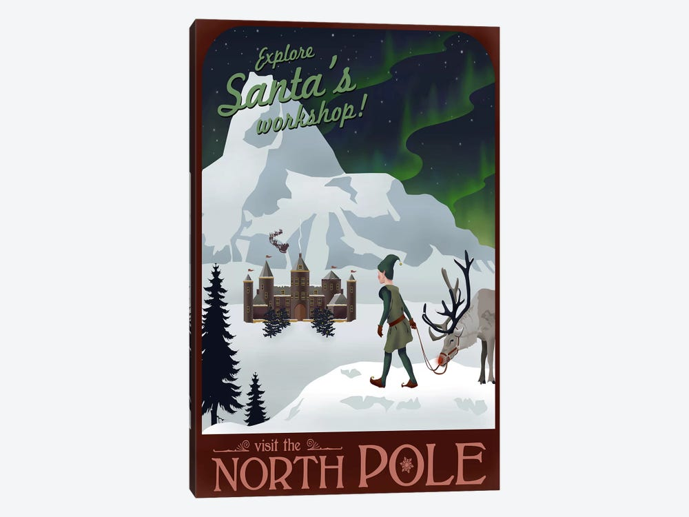 North Pole Christmas by Steve Thomas 1-piece Canvas Wall Art