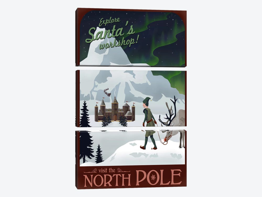 North Pole Christmas by Steve Thomas 3-piece Canvas Artwork