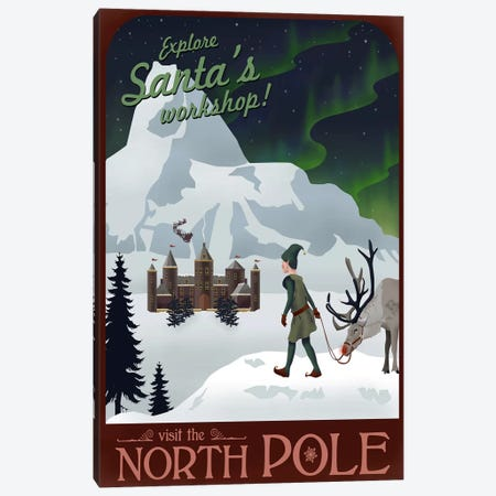 North Pole Christmas Canvas Print #15564} by Steve Thomas Canvas Wall Art