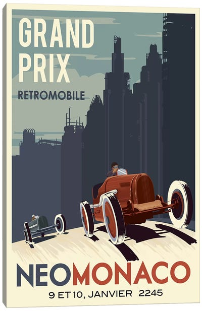 Car Race Canvas Art Print