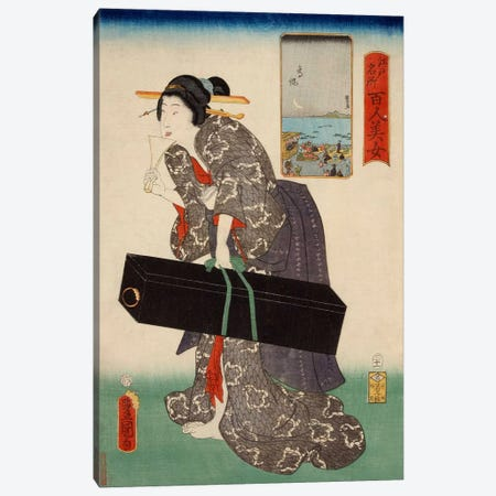 Takanawa Japanese Canvas Print #1602} by Kunisada (toyokuni) Canvas Wall Art