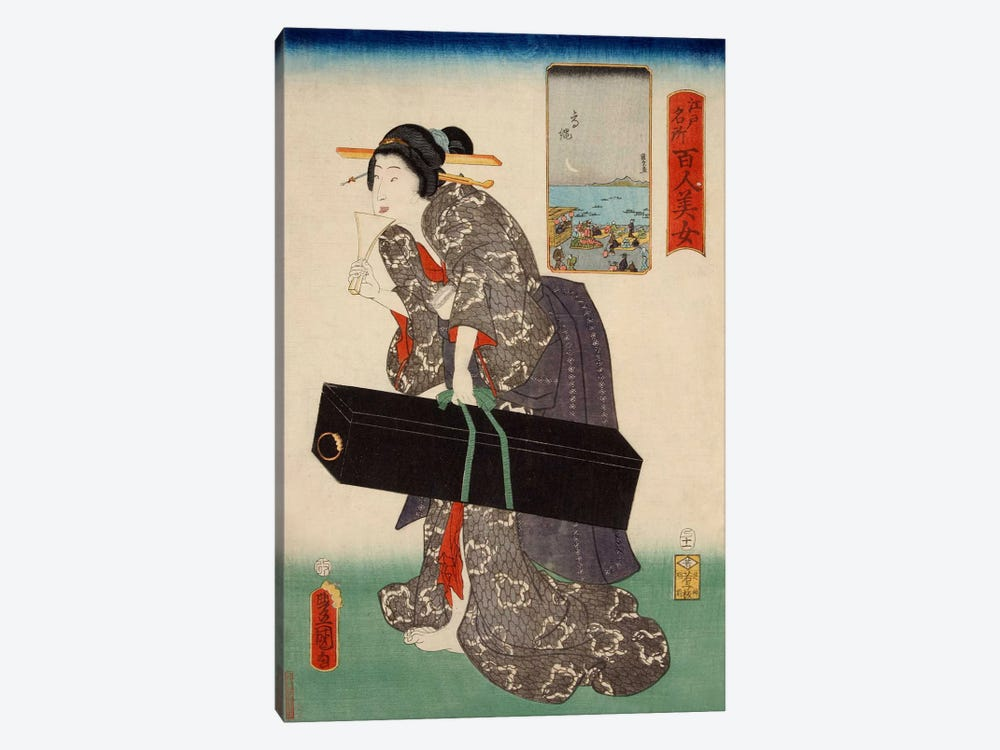 Takanawa Japanese by Utagawa Kunisada 1-piece Canvas Art