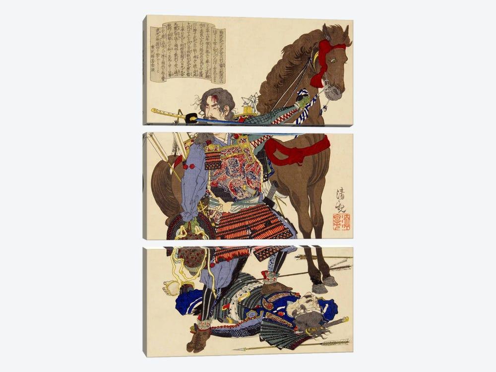Samurai & Horse by Unknown Artist 3-piece Canvas Print