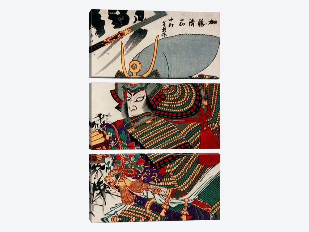 Kato Kiyomasa 3-piece Canvas Wall Art