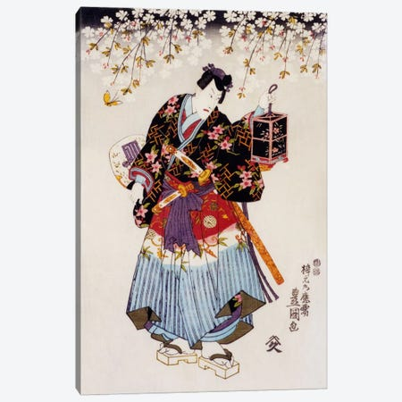 Samurai with Two Swords Canvas Print #1624} by Unknown Artist Canvas Art Print