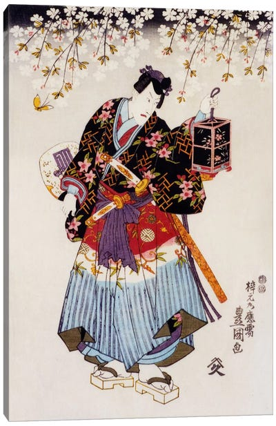Samurai with Two Swords Canvas Art Print