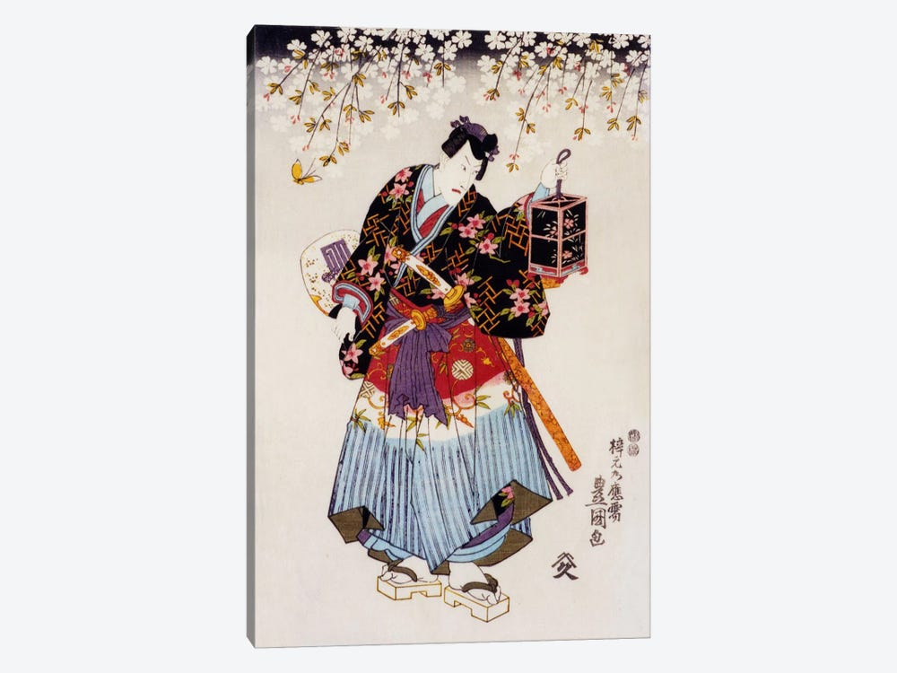 Samurai with Two Swords by Unknown Artist 1-piece Canvas Artwork
