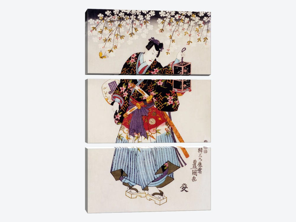 Samurai with Two Swords by Unknown Artist 3-piece Canvas Artwork