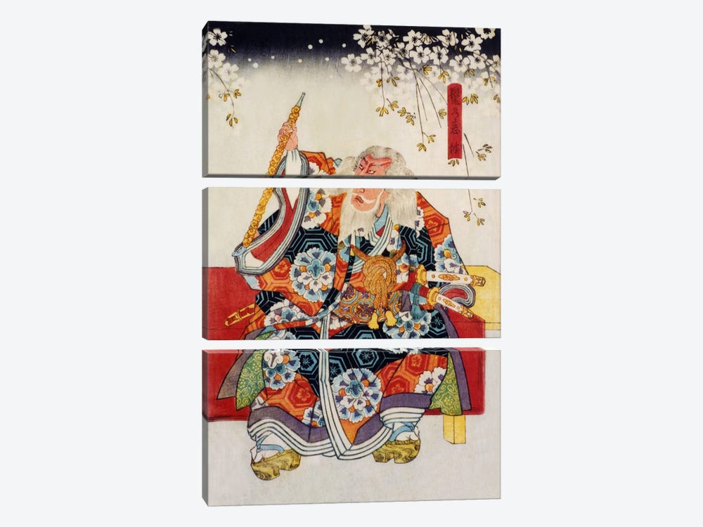 Old Samurai 3-piece Canvas Art Print