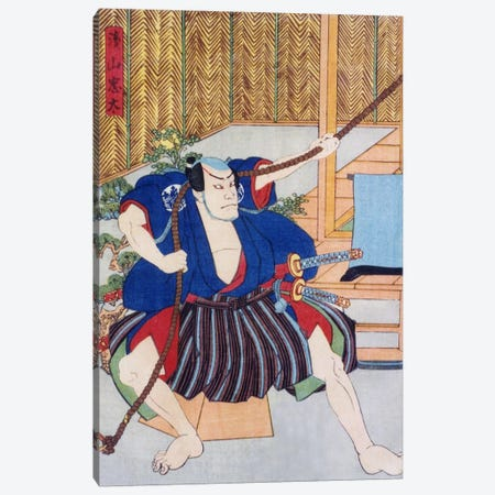 Actor Ichikawa Canvas Print #1626} by Kunisada (toyokuni) Canvas Art Print