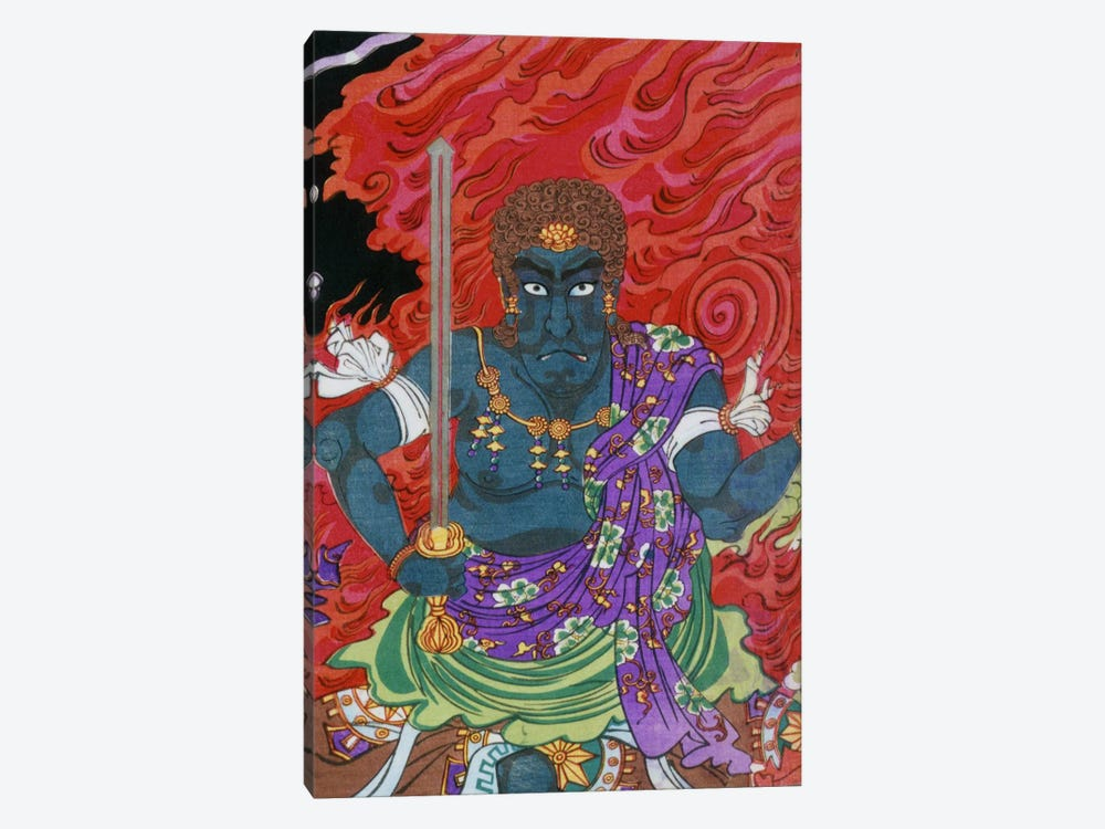 Acala (fudo) with Sword by Unknown Artist 1-piece Canvas Art