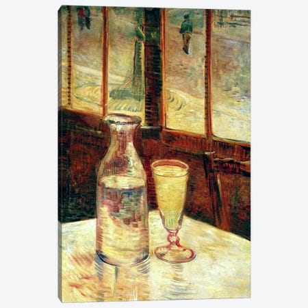 The Still Life with Absinthe Canvas Print #1703} by Vincent van Gogh Canvas Print