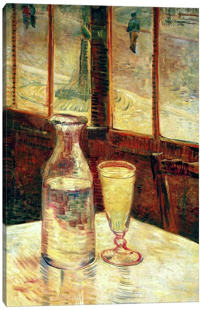 The Still Life with Absinthe Canvas Art Print