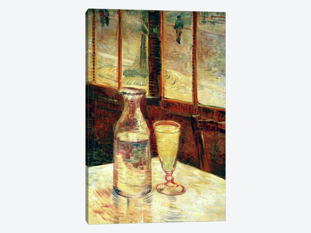 The Still Life with Absinthe by Vincent van Gogh 1-piece Canvas Artwork