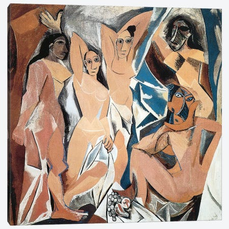 Les Demoiselles d'Avignon Canvas Print #1708} by Pablo Picasso Canvas Print