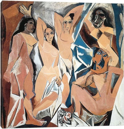 Les Demoiselles d'Avignon by Pablo Picasso Canvas Art Print