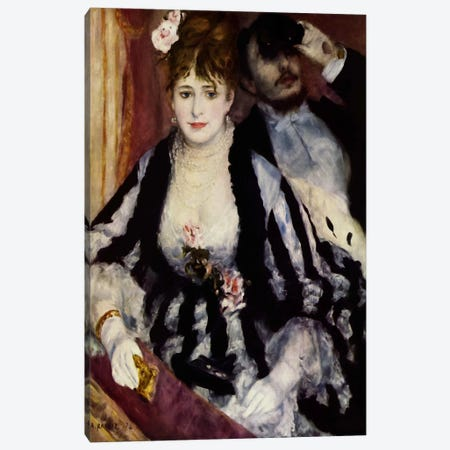 The Theatre Box (La Loge) Canvas Print #1716} by Pierre-Auguste Renoir Canvas Art Print