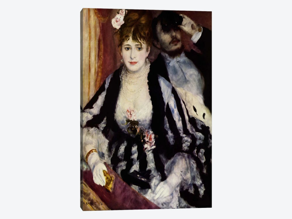 The Theatre Box (La Loge) by Pierre-Auguste Renoir 1-piece Canvas Wall Art