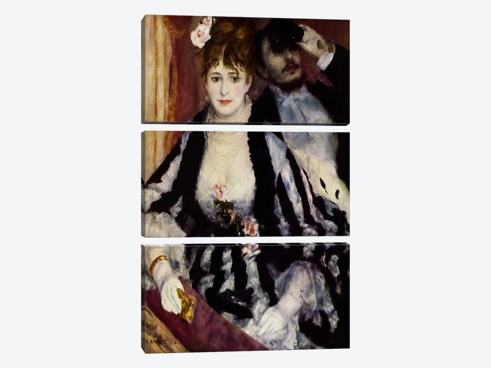 The Theatre Box (La Loge) by Pierre-Auguste Renoir 3-piece Canvas Wall Art