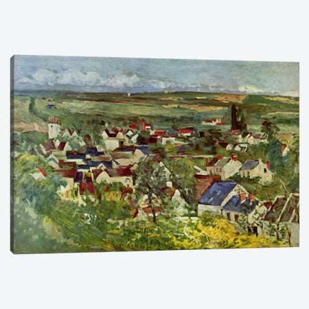 View of Auvers Canvas Print #1720} by Paul Cezanne Canvas Print