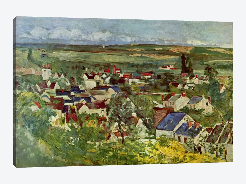 View of Auvers by Paul Cezanne 1-piece Canvas Print