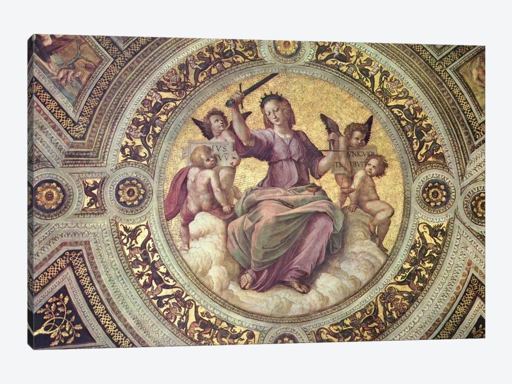 Stanza della Segnatura by Raphael 1-piece Canvas Art