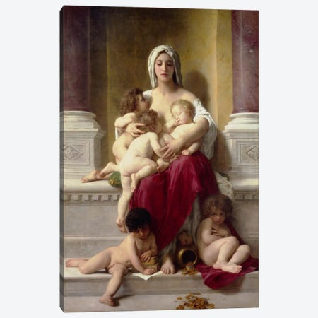 Charity Canvas Print #1737} by William-Adolphe Bouguereau Art Print