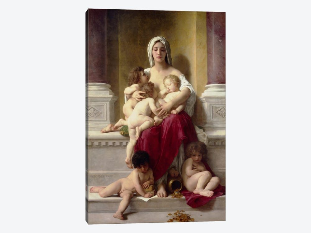 Charity by William-Adolphe Bouguereau 1-piece Art Print