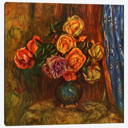 Pitcher (Vase) of Flowers Canvas Print #1739} by Pierre-Auguste Renoir Canvas Art