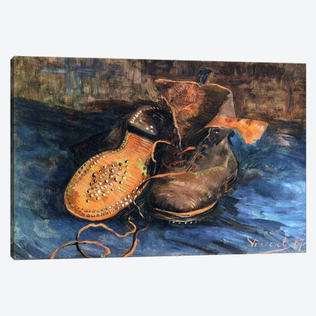 A Pair of Shoes Canvas Print #1742} by Vincent van Gogh Canvas Art Print