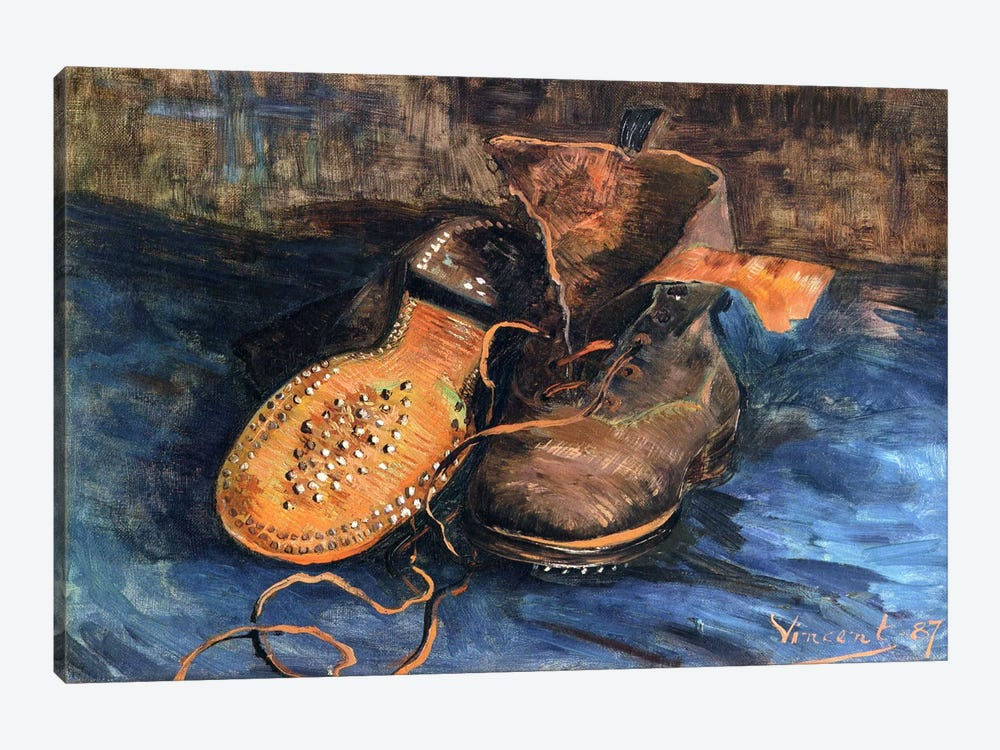 A Pair of Shoes by Vincent van Gogh 1-piece Canvas Art Print