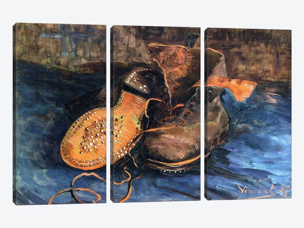 A Pair of Shoes by Vincent van Gogh 3-piece Art Print