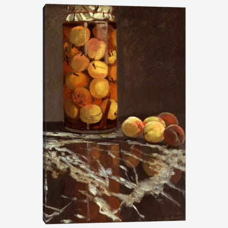 Jar of Peaches (Das Pfirsichglas) Canvas Print #1744} by Claude Monet Canvas Art