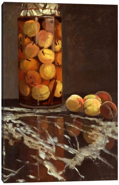 Jar of Peaches (Das Pfirsichglas) Canvas Art Print