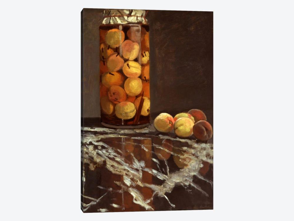 Jar of Peaches (Das Pfirsichglas) by Claude Monet 1-piece Canvas Print