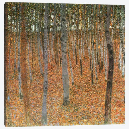 Forest of Beech Trees Canvas Print #1747} by Gustav Klimt Canvas Wall Art