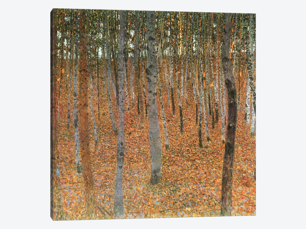 Forest of Beech Trees by Gustav Klimt 1-piece Canvas Art