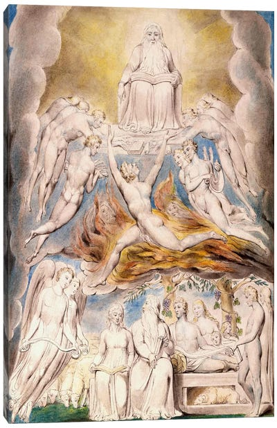 Satan Before The Throne of God Canvas Art Print