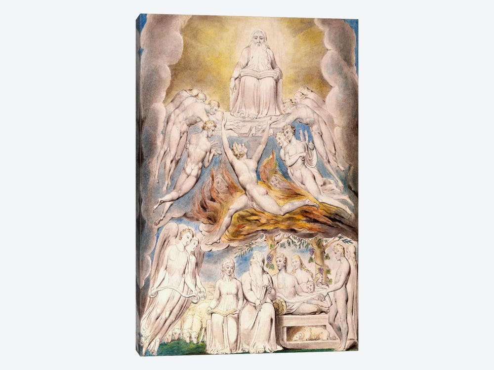 Satan Before The Throne of God by William Blake 1-piece Canvas Art Print