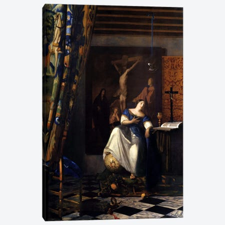 Allegory of The Faith Canvas Print #1757} by Johannes Vermeer Canvas Art Print