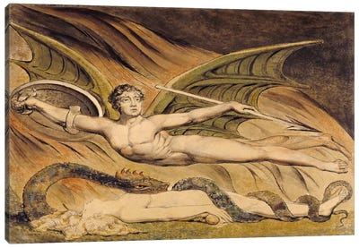 Satan Exulting Over Eve Canvas Art Print