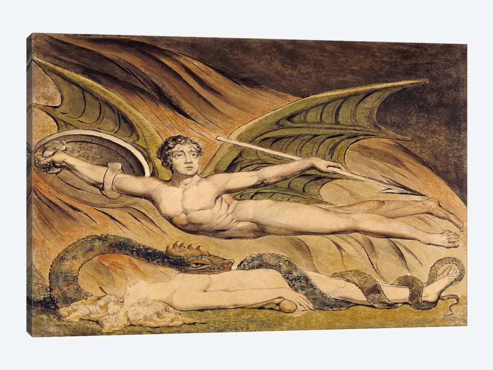 Satan Exulting Over Eve by William Blake 1-piece Canvas Art Print