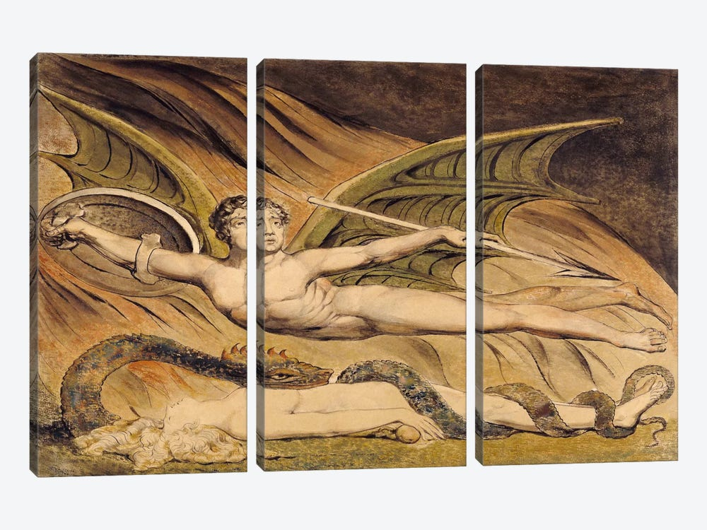 Satan Exulting Over Eve by William Blake 3-piece Art Print