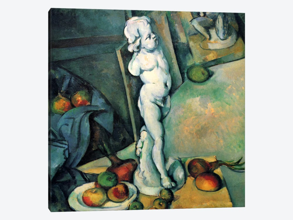 Still Life with Cherub by Paul Cezanne 1-piece Canvas Artwork
