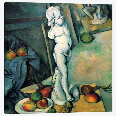 Still Life with Cherub Canvas Print #1772} by Paul Cezanne Canvas Art