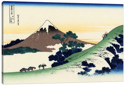 Inume Pass in The Kai Province by Katsushika Hokusai Canvas Art
